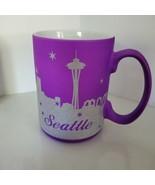 Brilliant  Purple and Glitter Seattle Coffee Mug - $16.24