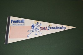 NAIA Football National Championship 1989 college athletics vintage pennant - $14.69