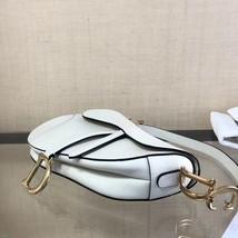 NEW AUTH Christian Dior 2019 White Medium Saddle Trotter Saddle Shoulder Bag image 4