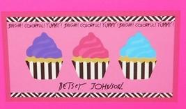 Betsey Johnson Yummy Cupcakes Bath Pool Spa Beach Towel Cotton Pink NWT - $33.29