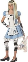 Girls Alice Tween Kids Child Fancy Dress Party Halloween Costume, L (10-12) - $81.70
