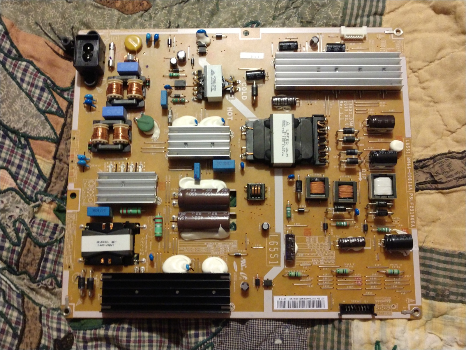 Primary image for Samsung BN44-00614A (L65S1_DSM, PSLF231S05A) Power Supply / LED Board