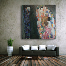 1 Pcs Gustav Klimt The Virgins Wall Picture Canvas Painting 28x28inch - $39.99
