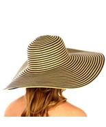 Wide brim striped floppy hat sun hat - $24.00