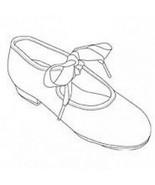 Vintage Capezio 400 Adult 7M (Fits 6.5) White Ribbon Tie Tap Shoes - No ... - $6.92