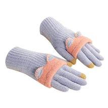 Winter Fashion Gloves/Knitted Woolen Gloves for Girls/Cute Cartoon Gloves/BLUE