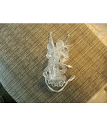 """20#7   Pre-owned  Acrylic Angel Lighted Christmas Tree Ornament 6+"""" Tall - $5.44"""