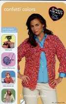 Confetti Colors 4 Red Heart Crochet, 1 Knit Designs PATTERN/INSTRUCTIONS... - $3.57