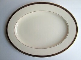 "Lenox China Langdon Gate Ambassador Coll Large 15 3/4"" Serving Platter gold trim - $68.31"