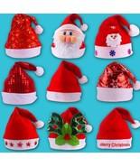 Santa Claus Hat Adult Christmas Cap Kids Xmas Headband Snowman Red Plush... - $5.99