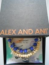Alex and Ani Sailboat Set of 3 Shiny Silver Bangle Bracelets NWTBC NEW 2017 - $62.36