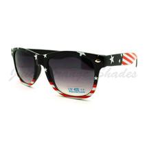 American Flag Sunglasses Classic Wayframe Patriotic US Flag Print Navy - $9.85