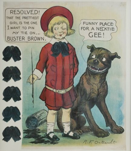 Primary image for Antique c. 1905 Buster Brown & Tige Necktie Party Buster Selchow & Righter Game
