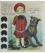 Antique c. 1905 Buster Brown & Tige Necktie Party Buster Selchow & Right... - $558.99