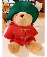 Paddington Bear EDEN In Red Jacket & Green Hat 15 Inches Plush Stuffed Bear - $19.79