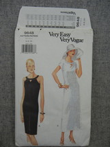Misses Dress Size 6-10  Slightly tapered or A-line  Vogue 9648  2 length... - $10.00