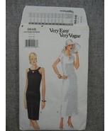Misses Dress Size 6-10  Slightly tapered or A-line  Vogue 9648  2 length... - $10.00