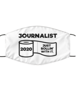 Funny Journalist Face Mask, Just Rollin' With It, Unique Christmas Face  - £12.25 GBP