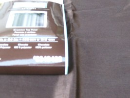 Allen Roth Drape Curtain Chocolate Brown Edistone Sheer Grommet Top Pane... - $29.68