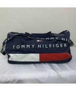 Vintage Tommy Hilfiger Duffle Bag Gym Large Flag Spell Out Color Block 90s - $59.49