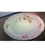 "Winterling, Moss Rose, Vintage Oblong Serving Platter, 15"" - $40.71"