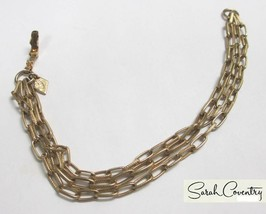 Vintage Sarah Coventry  Jewelry - #9798  Three-Chain Bracelet - $14.16