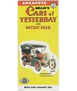 Vintage Travel Brochure Saraota Florida Bellm's Cars of Yesterday and Mu... - $8.90