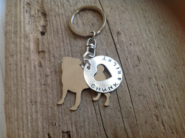 Pug Custom Keychain Dog Lover - $18.00