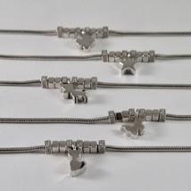 Silver Bracelet 925 Jack&co with Star Dog Butterfly Four-Leaf Clover or Cat image 2