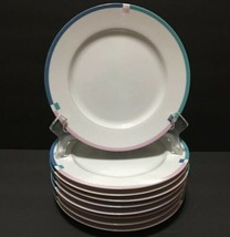 "Mikasa Fine China JET SET L5643 Set of 9 Salad Plates 7-/12"" PD19 - $39.99"