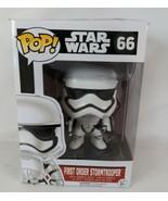 Funko Pop Vinyl STAR WARS #66 FIRST ORDER Stormtrooper Bobble Head in Box  - $19.98