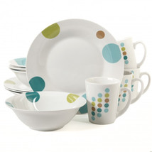 Gibson Home Retro Specks 12-Piece Multicolored Dinnerware Set - $60.05