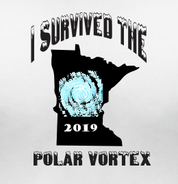 I Survived The Polar Vortex Extreme Weather Graphic T Shirt Red White L XL 2XL