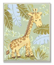 The Kids Room by Stupell Giraffe in The Jungle Rectangle Wall Plaque - $20.32