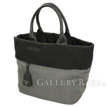 8e552cecba2cb1 PRADA Tote Bag Nylon Leather Black Gray B1959V Handbag Italy Authentic  5334018 - $280.58