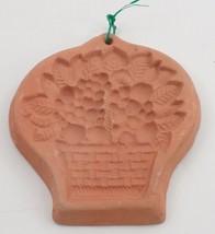 Big Prim Terra Cotta Brick Spring Grape Fruit Basket Cookie Bread Mold P... - $13.32