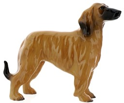 Hagen-Renaker Miniature Ceramic Dog Figurine Afghan Hound Pedigree Red