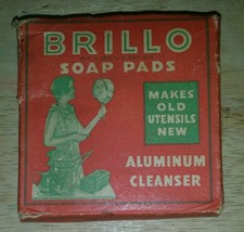 VINTAGE early 1900's Brillo Aluminum Cleanser Pad in original box RARE! ... - $23.61