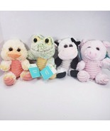 Duck Frog Cow & Pig Plush Stuffed Animals NEW Farm Friends Set of 4 - $21.77