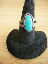 Jane Popovich Navajo Sterling Silver Turquoise Ring ~ Size 4 3/4 ~ Signed - $28.93