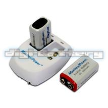 2 X MaximalPower 9V 9 Volt Rechargable Battery Batteries + Dual Wall Cha... - $25.29