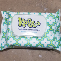 Kandoo Flushable Cleaning Wipes, Sensitive, 50 Wipes Ship From USA