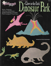 Plastic Canvas Pattern Booklet-Glow in the Dark DINOSAUR PARK-8 Designs-... - $6.76