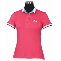 Equine Couture Ladies Kirsten Polo Shirt Hot Pink Size XXXL image 1