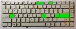 SONY VAIO VGN-NW120J 148737921 KEYBOARD INDIVIDUAL KEY (1 key only) WHITE