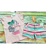 Gymboree Island Hopper 6 Girl Magnifying Glass Top Striped Shorts NWT Ou... - $15.88