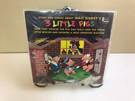 DISNEYLAND RECORDS HI-FI ST-1910 3 LITTLE PIGS 1961 STERLING HOLLOWAY LP... - $8.79