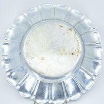Vintage Hand Engraved Hammered Floral Pattern Silver-Tone Metal Serving Platter image 10