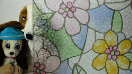 """Colored Flower Ice Chip Static Cling Window Film, 36"""" Wide x 9 ft - $79.15"""