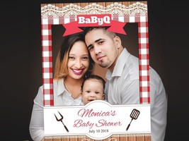 BBQ BabyQ Theme Baby Shower Custom Photo Prop Frames Photo Booth Supplies USA - $15.83+